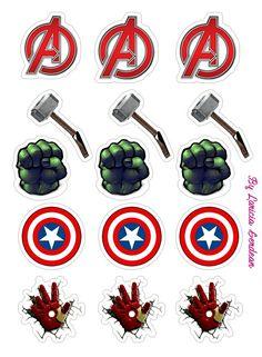 Avengers Birthday Cakes, Superhero Birthday Party, 1st Birthday Parties, Boy Birthday, Avengers Party Decorations, Birthday Party Decorations, Party Themes, Marvel Baby Shower, Captain America Birthday