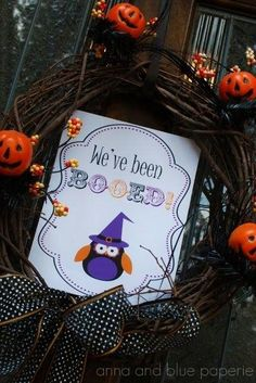 We've been BOOED ! Adorable Free Printable ! by Anna and Blue paperie
