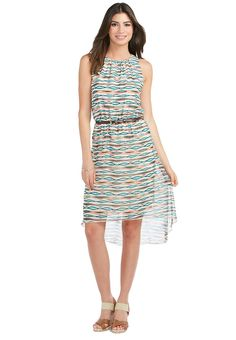 72cc36757f Sheer Watercolor Stripe Belted Dress Dresses Cato Fashions Plus Dresses