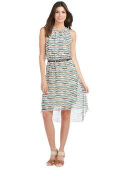 26e543d3b18e Sheer Watercolor Stripe Belted Dress Dresses Cato Fashions Plus Dresses,  Modest Dresses, Belted Dress