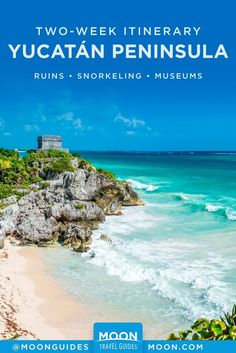 See and do a little of everything with two weeks in Mexico's Yucatán Peninsula. With beaches to enjoy, ruins to explore, museums to visit, cenotes to snorkel in, and cities to discover, this is a trip for travelers with plenty of energy and a hankering to see it all.#mexico#yucatan #outdoors Mexico Yucatan, Tulum Ruins, Puerto Morelos, Recreational Activities, Mexico Vacation, Cozumel, Riviera Maya, Day Tours, Snorkeling