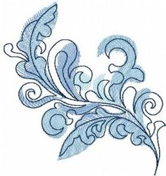 blue swirl decoration free embtoidery design. Machine embroidery design. www.embroideres.com