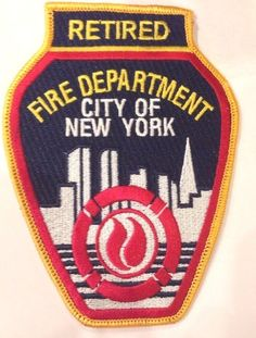 "New York City NY Fire Dept. FDNY ""Retired"" patch - NEW!"
