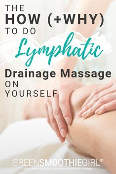 Lymphatic drainage massage is a hands-on therapy using light pressure with circular and pumping movements that encourage the movement of lymph fluid throughout the body. It is a very gentle, rhythmic type of massage and one that is usually performed with Training Apps, Training Fitness, Gym Fitness, Health Fitness, Technique Massage, Lymph Fluid, Lymphatic Drainage Massage, Lymph Detox, Beauty Hacks