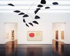 The Menil Collection Photo - A mobile by Alexander Calder and a painting by Joan Miró at Houston's Menil Collection