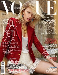 Karolina Kurkova. Vogue Spain July 2012