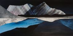 Oneiric Paintings of Mountainous Landscapes  The British painter Sarah Winkler finds her inspiration in the distant shapes of the mountainous summits in order to create her artistic works. The crests appear in the horizon reflecting with an interesting play of symmetry. Almost abstract pictures that are however fascinating with their technical mastery. Discover her work below.           #xemtvhay