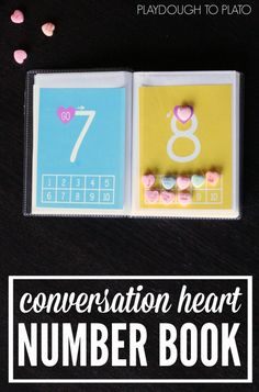 Awesome Valentine activity for kids! FREE conversation heart number book practicing number writing and counting. Numbers Preschool, Preschool Learning, Fun Learning, Preschool Activities, Counting Activities, Valentine Theme, Valentine Ideas, Valentine Crafts, Holiday Crafts