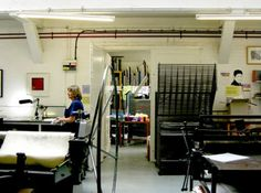 Residence.  East London Printmakers The etching room at the ELP studio