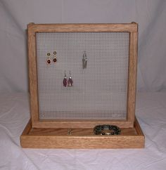 Oak Earring Display and Storage  Post style  08015 by kemike, $25.00