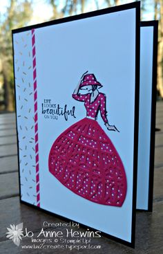 I think it all started when I saw on Pinterest that someone had made a card using the Up & Away Thinlit Dies, but not as balloons. They had made a beautiful perfume bottle. I bet you can find it on Pinterest. Don't you just love it when there is...