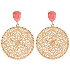 Earrings Alexandra LIGHT CORAL (1 495 UAH) ❤ liked on Polyvore featuring jewelry, earrings, nickel free jewelry, earring jewelry, coral jewellery, pin jewelry and coral earrings