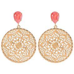 Earrings Alexandra LIGHT CORAL ($58) ❤ liked on Polyvore featuring jewelry, earrings, nickel free earrings, pin jewelry, earring jewelry, coral jewellery and pin earrings