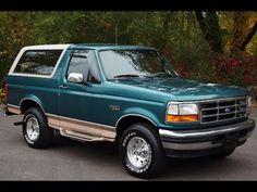 1996 Ford Bronco Eddie Bauer 4WD Light Blue Slideshow Ford Bronco 1996, Eddie Bauer, Light Blue, Trucks, Cars, Track, Vehicles, Autos, Truck