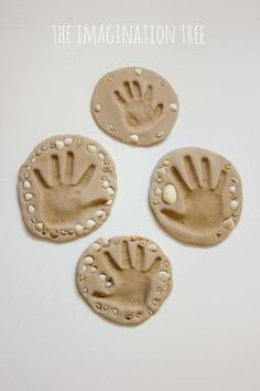 Sand clay hand print keepsake craft! A great DIY craft- great for summer camp or an ocean themed week!