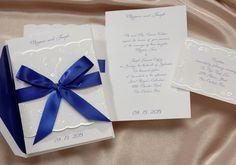 Ribbon Wedding Invitations by The Dubuque Advertiser - $252 per 125