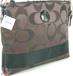 713580779f9 Coach C Signature Purse Crossbody Shoulder Handbag Dark Brown Gift Receipt    eBay Coach Purses Outlet