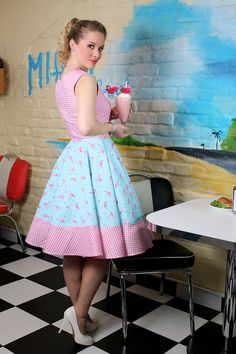 vintage inspired pin up dress By ticci rockabilly clothing photo: Budai Tibor, model: Ildikó Hidasi, Hair: Diamant Dia, MAke-up: Pásztor Krisztina, Dress: www.hu thanx: wow diner Rockabilly Clothing, Rockabilly Outfits, Rockabilly Fashion, Rockabilly Girls, Rockabilly Style, Circle Skirt Dress, Dress Skirt, Manipulation Photography, Photography Editing