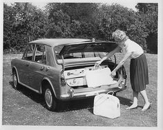 1962 Morris 1100. Trunk space.