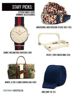 GOTSTYLE Stylists choose their must-have summer accessories. >> Available online! GOTSTYLE.CA