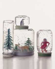 Make your own homemade snowglobes! Doing this with Emma this year! :)