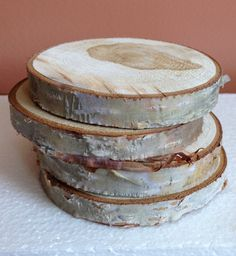 4 Birch slices Alaska paper birch Heartwood roses by ptarmagintrax
