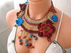 Flor Collares hechos a mano-ideas. Comentarios: Blogging para CP-Ucrania