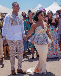 African Traditional Wear, African Traditional Wedding Dress, Traditional Wedding Decor, Seshweshwe Dresses, Fashion Dresses, African Wear, African Fashion, Seshoeshoe Designs, African Prints