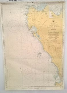 Nautical map of the South African West Coast