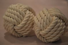 Hey, I found this really awesome Etsy listing at https://www.etsy.com/listing/176754779/decorative-monkey-fist-knots-set-of-2