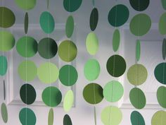Paper Garland, Shades of Green, St. Patrick's Day Decoration, Shamrock Garland, Green Garland, Green Banner