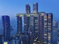 Safdie Architects completes The Crystal at Raffles City Chongqing Tower Building, Building Design, Singapore Guide, Chongqing China, Sky Bridge, Sands Resort, Indoor Waterfall, Sands Hotel, Sky Garden
