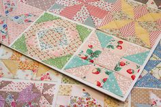 Farmer's Wife quilt blocks by Amy at Nana Company.  These pretty, small scale prints are calling to me!