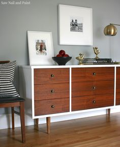 Bassett Mid Century Dresser side 5