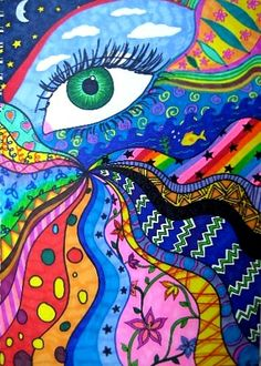 eye know | colorful art- great for middle school students