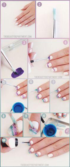 GEODE nail art tutorial