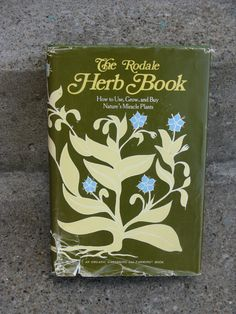 the rodale herb book hardcover 1974 organic by rivertownvintage