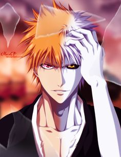 "Bleach: Ichigo & Hallow ""Look beyond the mirror and you'll see your other self."" Fading... by iMarx67"