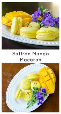 Saffron Mango Macaron