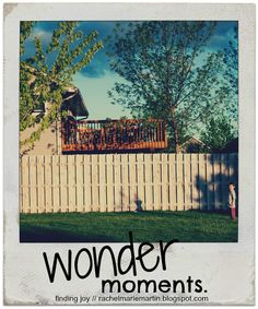 wonder moments -- mothers you must give these moments of exploration and joy - it is in learning to say yes. {at finding joy}