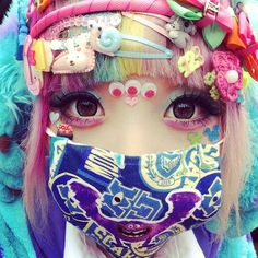 via #rainbowsparklesparkle Tumblr #googlyeyes #pastelgrunge #pastelhair #kawaii #tokyofashion #pastelgoth #softgrunge #harajukugirls #seapunk