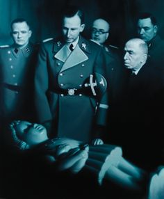 """Gottfried Helnwein, """"Heydrich contemplating Golem's Daughter"""""""