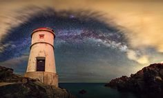 """""""Iron Cape, Porto Cervo (northern Sardinia). The Milky Way surrounded by a looming storm. Pano composed by 7 vertical shots."""" ~ ViewBug Pro Mauro_Mendula"""