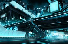 Concept Art World » Tron: Uprising Concepts and Background Paintings by Darren Bacon