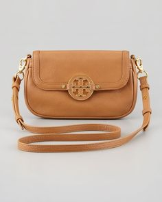 Amanda Mini Messenger Bag, Royal Tan - Tory Burch from Neiman Marcus on shop.CatalogSpree.com, your personal digital mall.