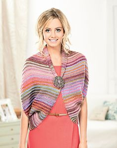 Ravelry: Isis Multiway Wrap pattern by Jan Henley Knitted Poncho, Knitted Shawls, Crochet Scarves, Crochet Shawl, Knit Crochet, Knitted Gifts, Knitting Designs, Knitting Patterns Free, Knit Patterns