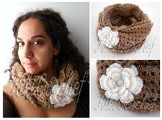 I just love the vintage look of this lacy infinity scarf, that has been made with mohair yarn for a warm and cozy result!!! Don't forget to post a pic of your finished project here!! :)