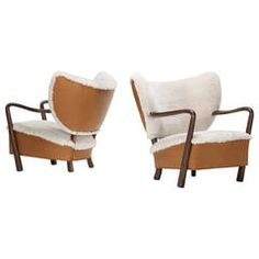 Pair of Lounge Chairs Attributed to Viggo Boesen