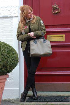 Nowshine. Fashion over 40. Bomberjacket Topshop, Zara Leather Pants