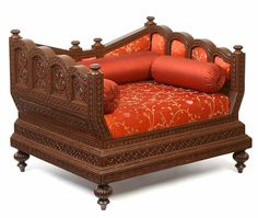 Carved furniture-Carved sofa diwan chair - Indian Carved furniture ...